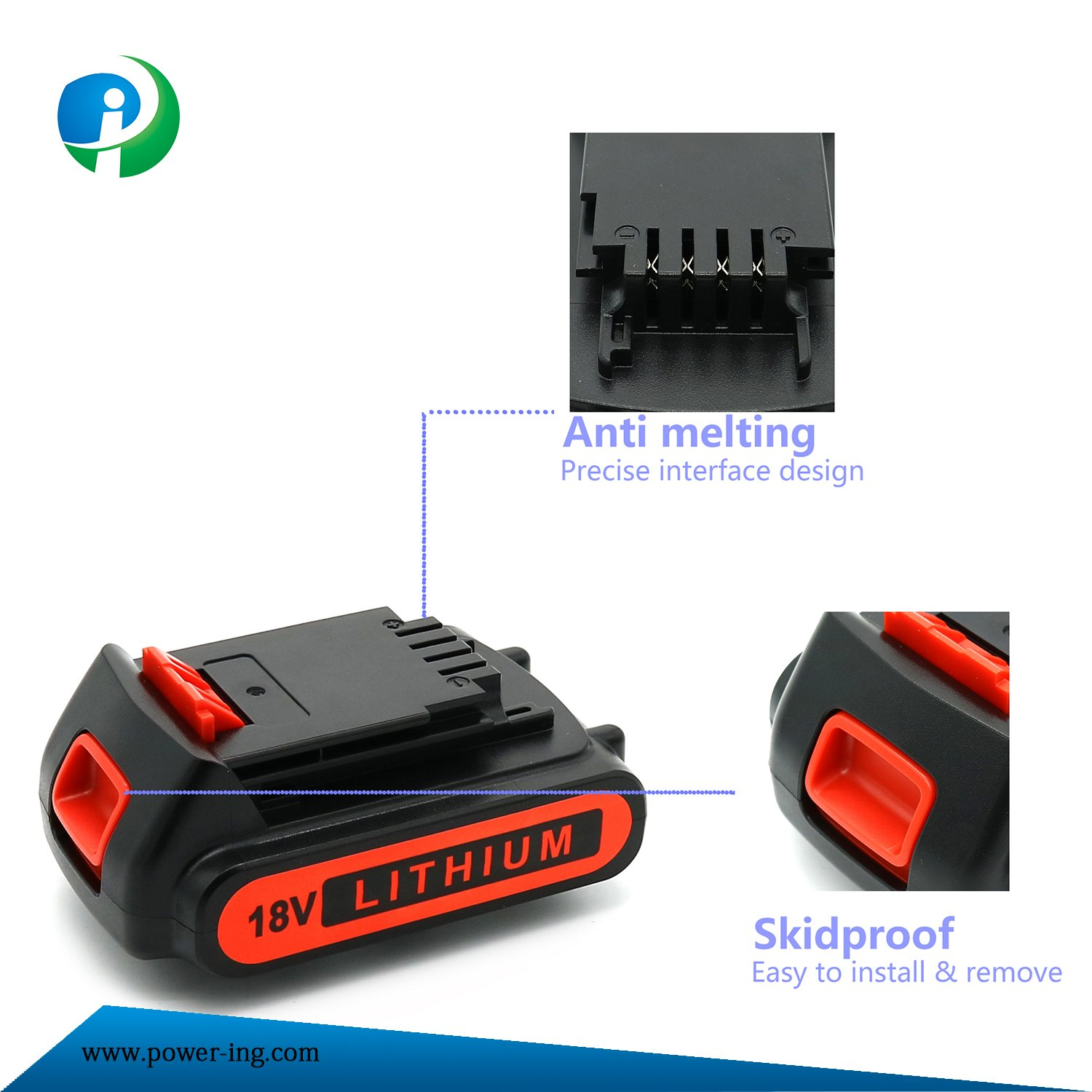 China 18V High Quality Rechargeable Li-ion Battery Lithium Battery for Power Tools
