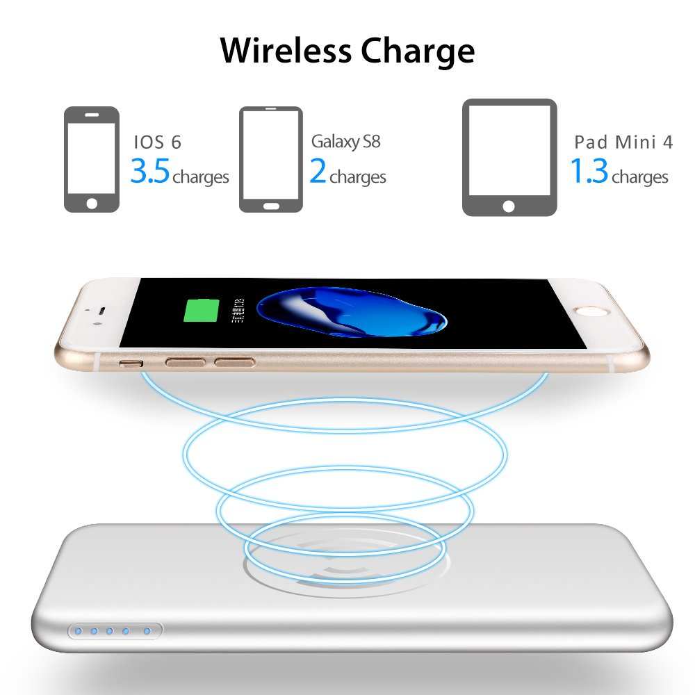 China High Qualilty Multifuncation Wireless Power Bank 10000mah